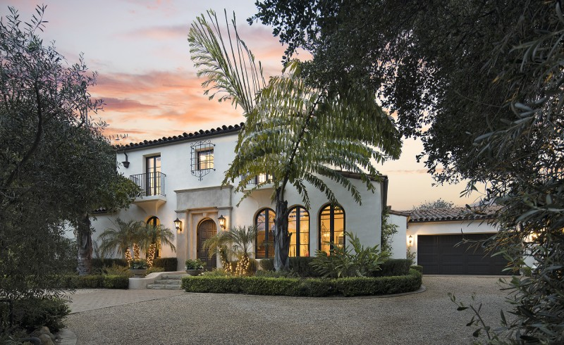Hedgerow Spanish Colonial-style
