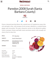 Parendon Syrah 2008